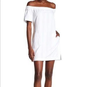 A.L.C off shoulder white dress